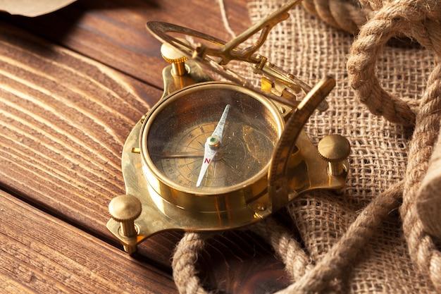 Vintage marine still life. close up .