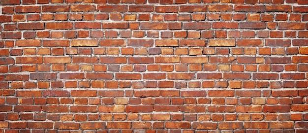 Vintage masonry. red brick wall background texture