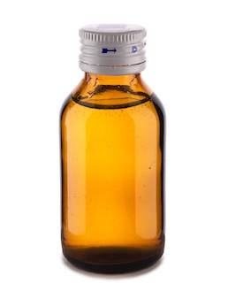 Винтажная медицинская стеклянная бутылка