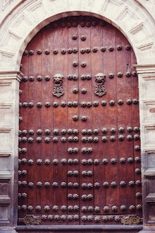 Vintage metal door for retro