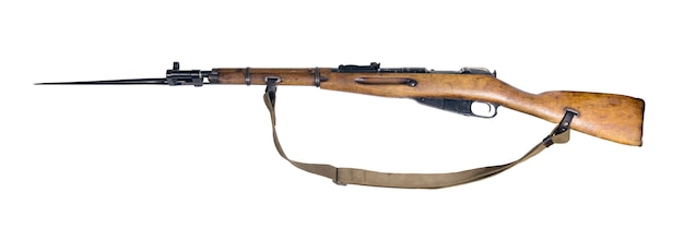 열린 위치에 총검이 있는 빈티지 군용 소총, 절연