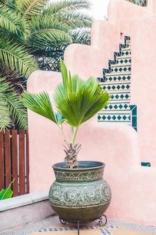Vintage moroccan mosque decorative wall