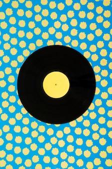 Vintage music concept with single vinyl