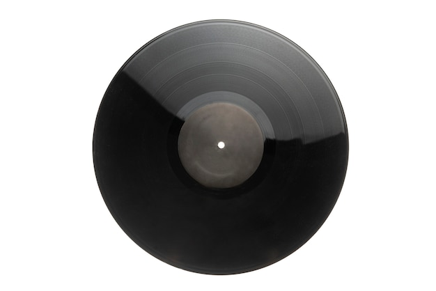 A vintage music, vinyl dics isolated, hi-fi audio