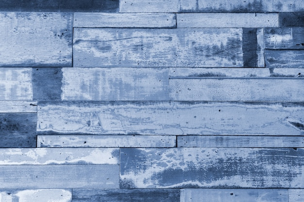 Vintage old blue painted rustic wooden texture background.