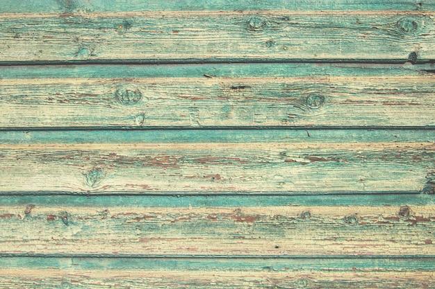 ヴィンテージ古い緑の塗られた緑の壁の背景テクスチャ