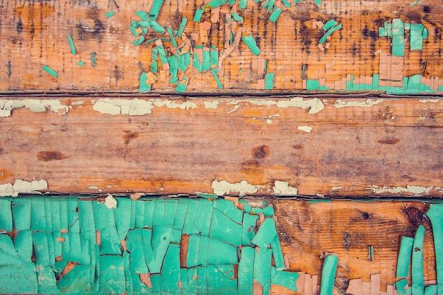 필 링 페인트와 빈티지 오래 된 나무 배경