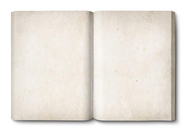 Винтажная открытая книга, изолированная на белом