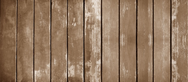 Vintage of panorama old wood wall with brown wooden texture background