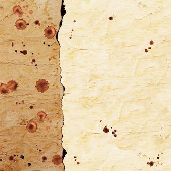 表面にコーヒーの染みが付いたヴィンテージ紙の質感