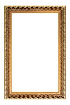 白い背景で隔離のビンテージ画像とフォトフレーム