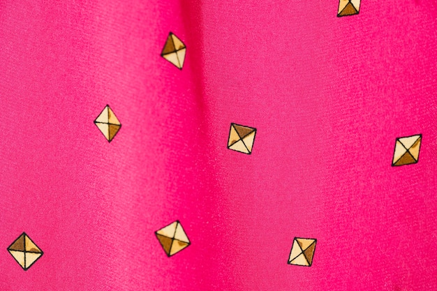 Vintage pink fabric close-up