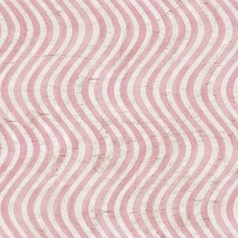 ヴィンテージピンクのストライプの背景水彩手描きの波状のストライプパターンと古い古紙