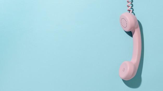 빈티지 핑크 전화 구성
