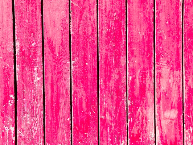 Vintage pink wooden plank background
