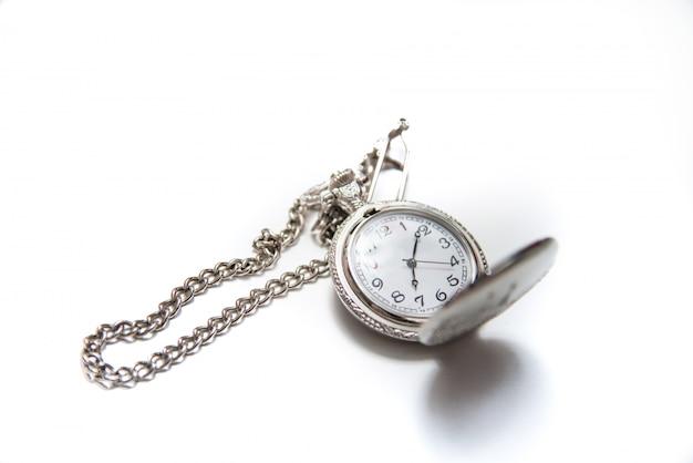 고립 된 체인 빈티지 포켓 시계