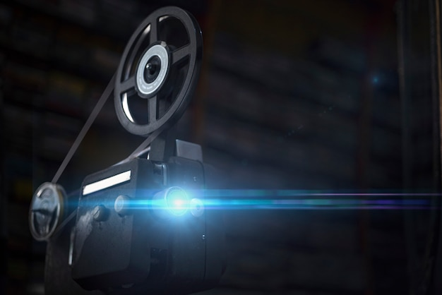 Vintage projector on roll