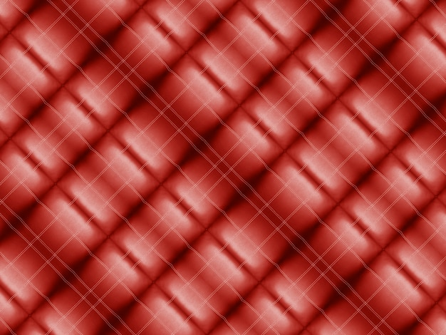 Vintage red square shape pattern tiles fabric wall