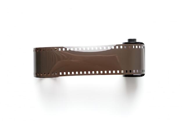 Vintage reel camera tape on white