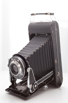 Vintage and retro camera in the studio