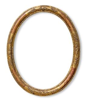 Винтажная ретро старая золотая деревянная фоторамка