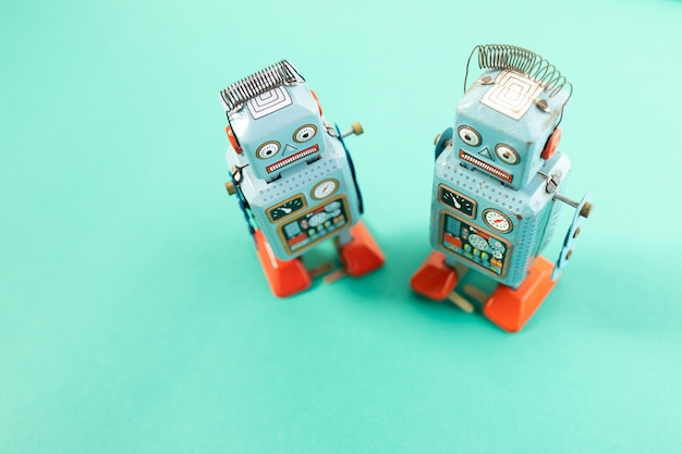 Vintage retro robot tin toy