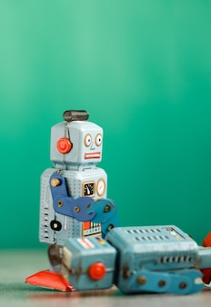 Vintage retro robot tin toy