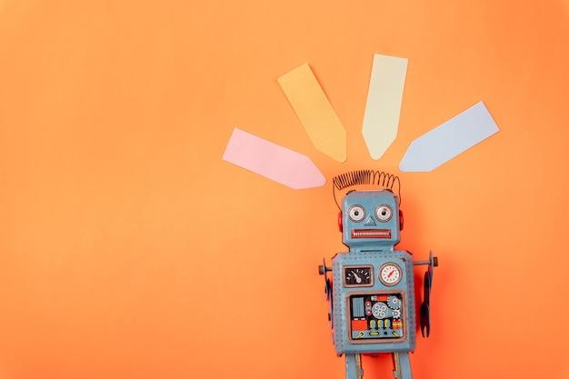 빈티지 레트로 로봇 깡통 장난감