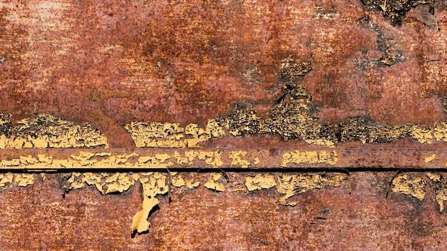 ヴィンテージのさびた、傷のある茶色の鋼の質感