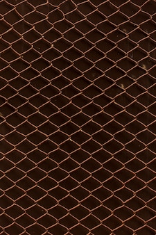 Vintage rusty chain link fence