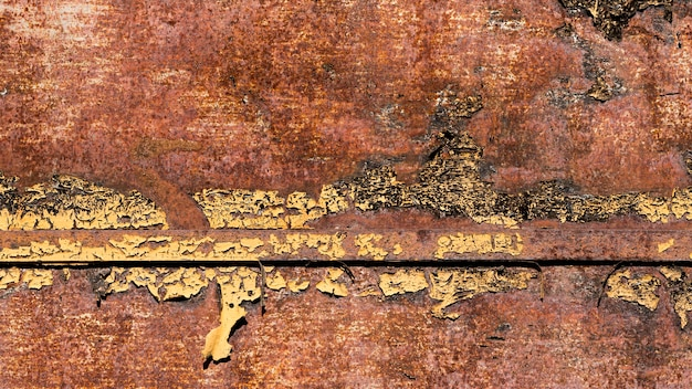 Vintage rusty and scratched brown steel texture