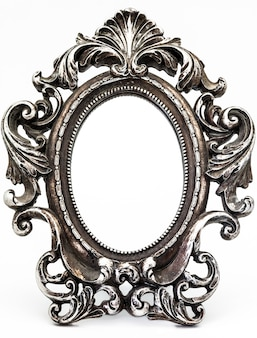 Vintage silver-plated mirror
