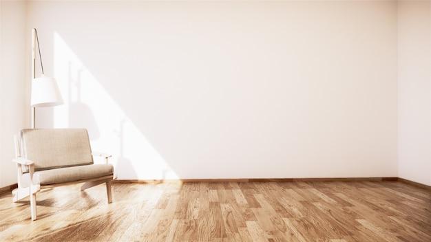 Винтажный диван деревянный японский дизайн, интерьер комнаты деревянный пол