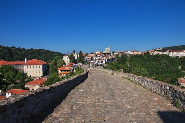 The vintage street in veliko tarnovo in bulgaria