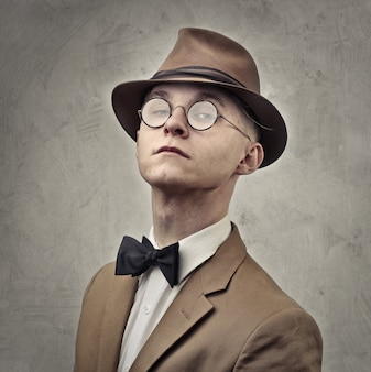 Vintage style businessman