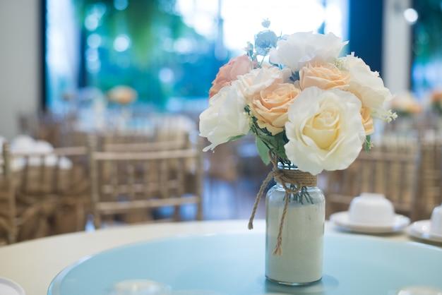 Vintage style dining table arrangement
