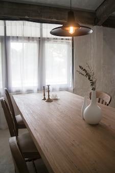Винтажный стиль деревянной столовой мебели
