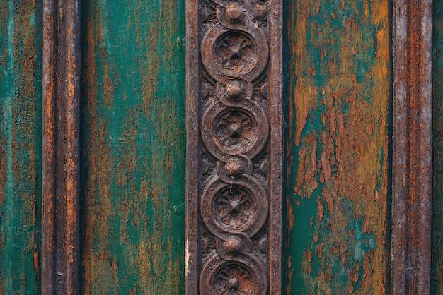 Vintage textures and details on doorway