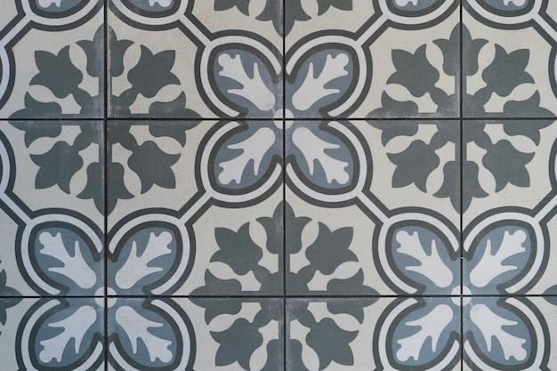 Винтажный узор плитки. плитка мозаика. стена из плитки.