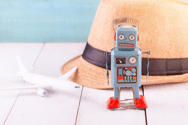 ヴィンテージブリキのおもちゃロボット
