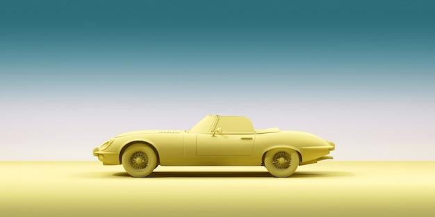 Винтажный игрушечный автомобиль на цветном фоне минимализм дизайн плаката прокат автомобилей для путешествий d иллюстрации