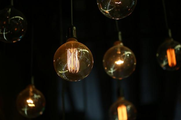 Vintage tungsten bulb light