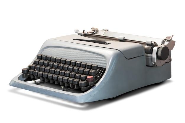 Винтаж пишущая машинка, изолированные на белом фоне