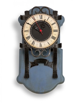 Vintage wall clock isolated