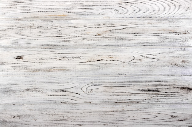 Vintage weathered shabby white painted wood texture