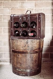 빈티지 와인 병