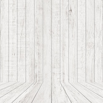 Vintage wood pattern texture in perspective view. empty wooden room space background.