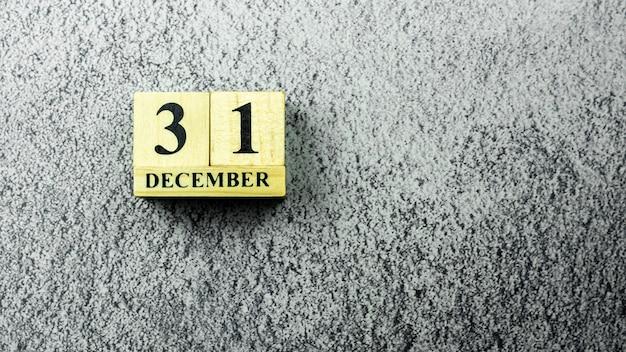 Vintage wooden calendar set at
