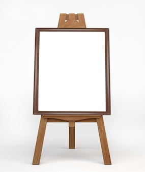 Vintage wooden easel painter, standing on the floor.