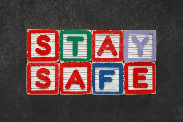 Винтажный деревянный блок с буквами, детская игрушка с надписью stay safe
